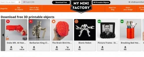 MODELOS DE IMPRESION 3D GRATIS EN MY MINI FACTORY