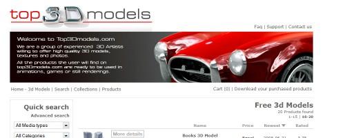 Descarga de modelos 3D gratis